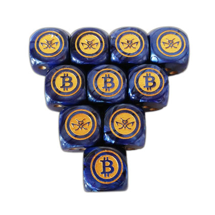 Dark Blue Cryptopods Dice